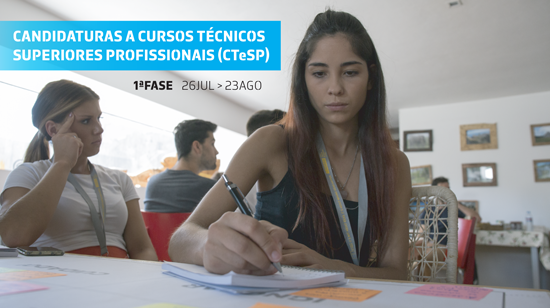Candidaturas abertas aos CTeSP da ESTG - 2021/2022