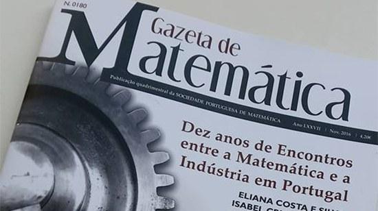 Docentes da ESTG publicam artigo que é capa da Revista Gazeta da Matemática